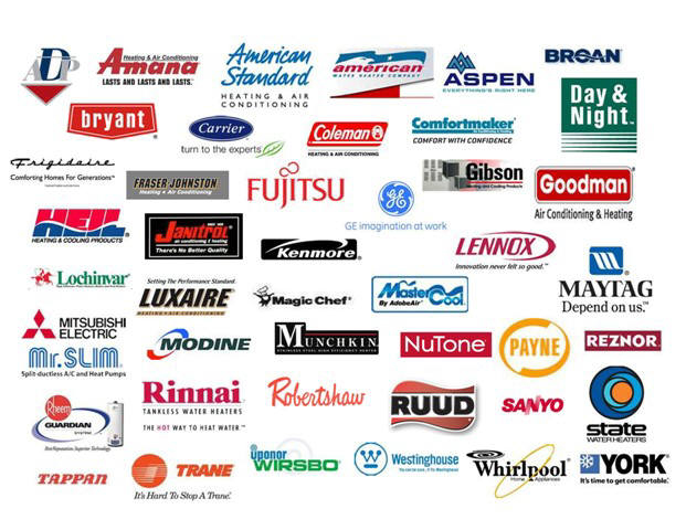 Brands we Service: Air Conditioning Repairs Woodbridge NJ